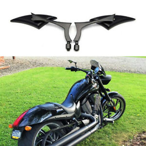 Motorcycle Blade Rearview Side Mirrors For Victory Hammer Honda Kawasaki Suzuki