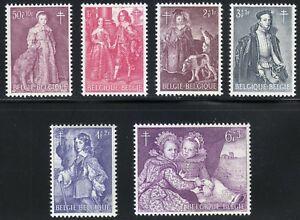 Art Punctual Belgium 1964 Mnh Mi 1367-1372 Sc B766-b771 Famous Belgian Paintings ** Stamps
