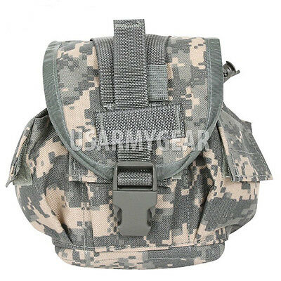Lot of 2 Molle II Army Canteen Cover Set Utility Pouch ACU Digital Camo USGI VGC