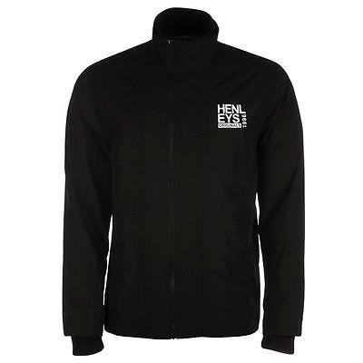 Henleys Men's Desouk Lightweight Rain Wind Jacket Black