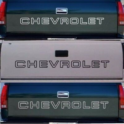 1 Chevrolet Tailgate Truck Lettering 1500 Silverado Sticker Vinyl Decal B W Slvr Ebay