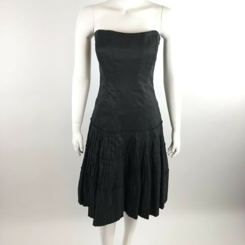 Nicole Miller Collection Size 6 Black Cocktail Dress Party Fit /& Flare Party
