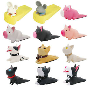 AM-Cute-Dog-Pig-Mouse-Cat-Door-Stopper-Holder-Hard-PVC-Doorstop-Wedge-Gift-Reli
