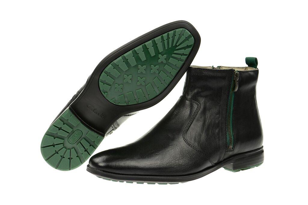 Clarks Mens  GLEESON ZIP  BLACK or BROWN CHELSEA BOOTS  UK 8.5,10,12