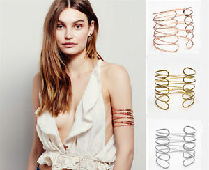 Fashion-Women-Punk-Swirl-Upper-Arm-Cuff-Armlet-Armband-Bangle-Bracelet-Jewelry