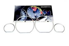 BMW E46 325i 330i M3 Titan Silver Instrument Cluster Speedometer Gauge Rings