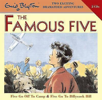 1 of 1 - FIVE GO OFF TO CAMP & FIVE GO TO BILLCOCK HILL- Enid Blyton (CD-Audio 2008) NEW