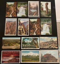 Lot of 14 Original Vintage Postcards - Colorado - Pike's Peak, Waterfalls +