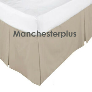 Linen 225tc Box Pleated Valance Bed Skirt Single Double Queen
