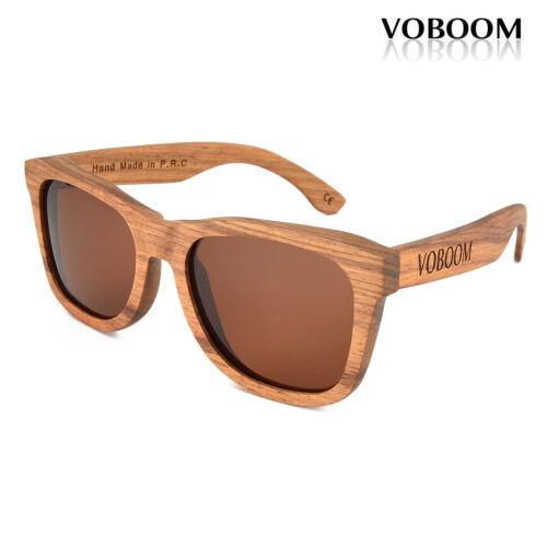 Voboom Femme Homme Luxe Handmade Padauk Wood Bamboo lunettes de soleil polarisées