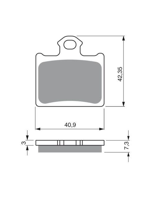 Goldfren 297 K5 Forros de freno traseros idóneo para KTM SX 85 AB bj.11