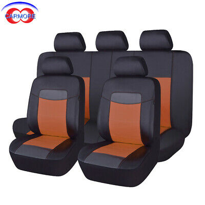 Terrific Details About Pu Leather Seat Covers Sets Universal Fit Car Suv Van Pick Up Brown Pdpeps Interior Chair Design Pdpepsorg