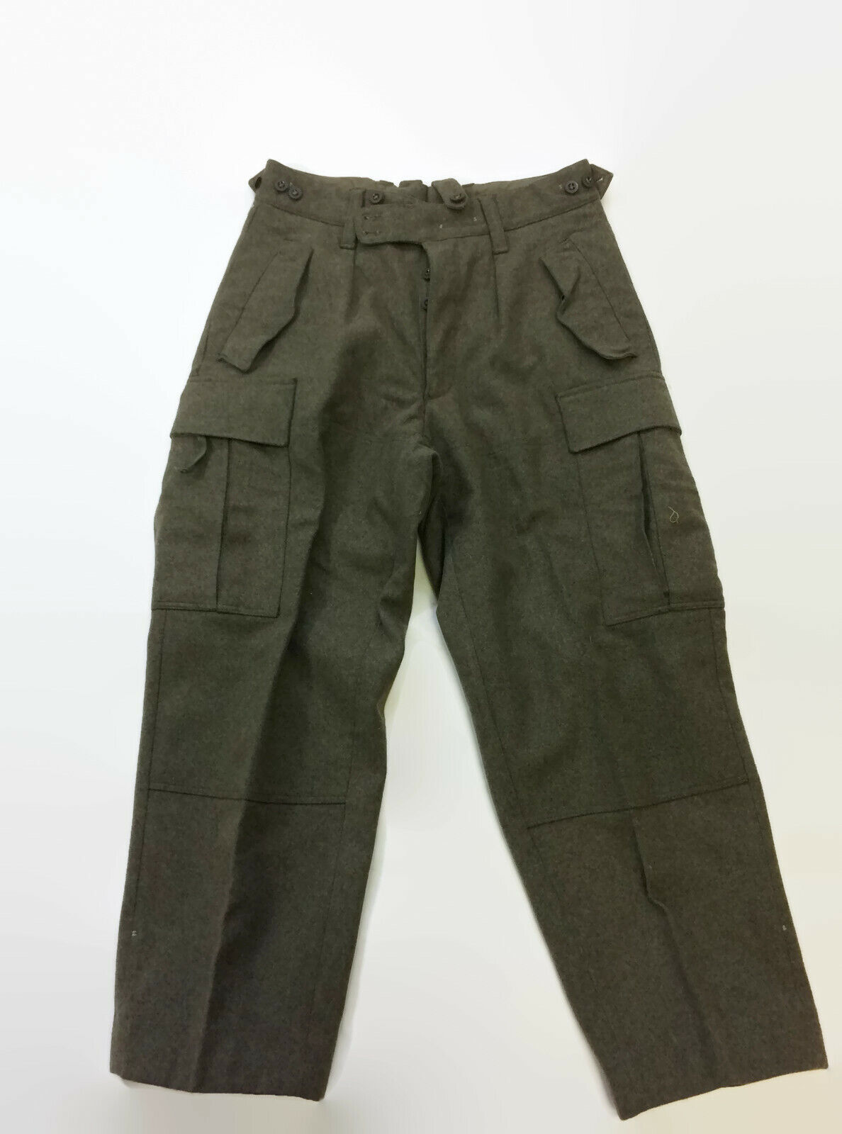 Striwa German Olive Green Wool Army Pants Excellent Condition 32 W 26 Inseam