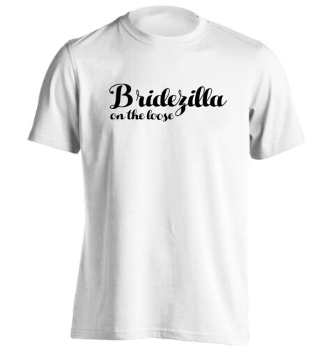 t-shirt wedding hen party bride funny joke hipster 1249 Bridezilla on the loose