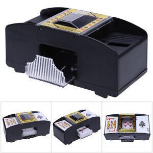 Poker Kartenmischer elektrische Kartenmischmaschine f 4 Decks batteriebetrieben