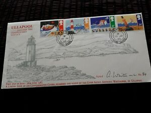 1985-ULLAPOOL-COASTGUARD-SERVICE-84-OF-100-ARTIST-SIGNED-GB-FDC-COVER-bx5