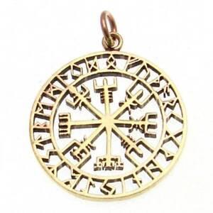 Viking Compass Pendant Bronze Gothic Jewelry - New
