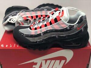 Details about Nike Air Max 95 Print Atmos We Love Nike Men's Size 6.5 Black Crimson AQ0925 002
