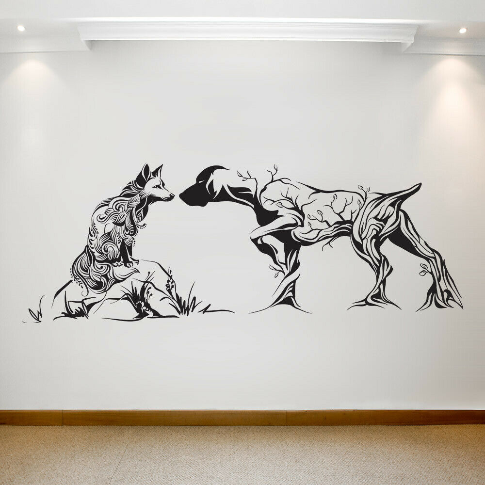 Large wall decal Unforeseen meeting on hunting Removable Vinyl Transfer 045