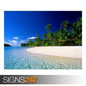 COOK-ISLANDS-3309-Beach-Poster-Picture-Poster-Print-Art-A0-A1-A2-A3-A4