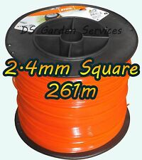 261m of Genuine STIHL 2.4mm SQUARE Brushcutter Strimmer Trimmer Cord Line Wire