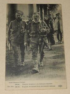 Carte-Postale-1914-Blesses-anglais-a-la-defense-d-039-ANVERS-CHUSSEAU-FIAVIENS