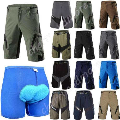 Mens Womens Cycling Shorts MTB Mountain Bicycle Sports Gym Pants Soft Trousers