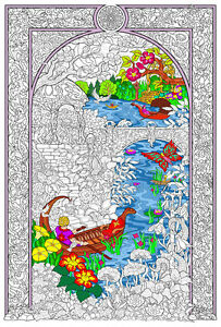 Details about Enchanted Lake - Giant Coloring Poster (32½ x 22 Inches)