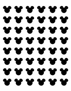 48 mickey mouse head face ears envelope seals labels stickers 12 image is loading 48 mickey mouse head face ears envelope seals pronofoot35fo Gallery