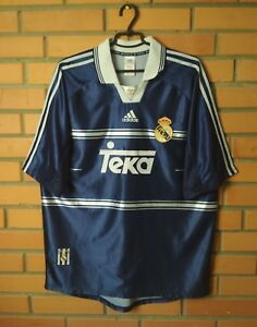 9cf84a614 Real Madrid 1998-1999 football shirt Away jersey soccer size L ...