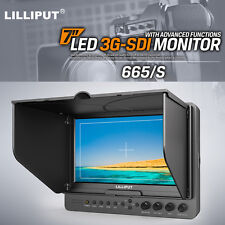"Lilliput 665/S/P 7"" Broadcast Field Camera HDMI SDI Monitor For G7KS,RED ONE"