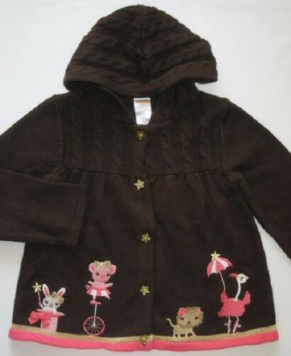 Gymboree Star of the Show Sweater 12-18 mo 4T New Brown Animal Circus Twin Girls