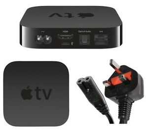 1-8M-FIGURE-8-C7-UK-3-PIN-MAINS-CABLE-POWER-ADAPTER-FOR-APPLE-TV-ALL-VERSIONS