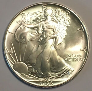 1986-1-oz-Silver-American-Eagle-Brilliant-Uncirculated