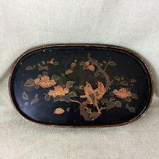 Antico in legno vassoio giapponese cinese della lacca Ware Oriental VINTAGE MEIJI vintage