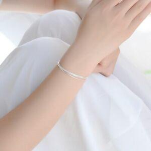 925-Sterling-Silber-Armband-Armreif-Silber-Filigran-Layer-Baender