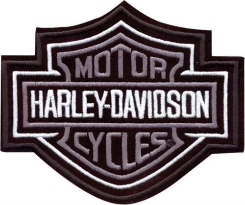 Harley Davidson Aufnäher//Patch Modell silber Bar/&Shield Größe 10,2 cm x 8,5 cm