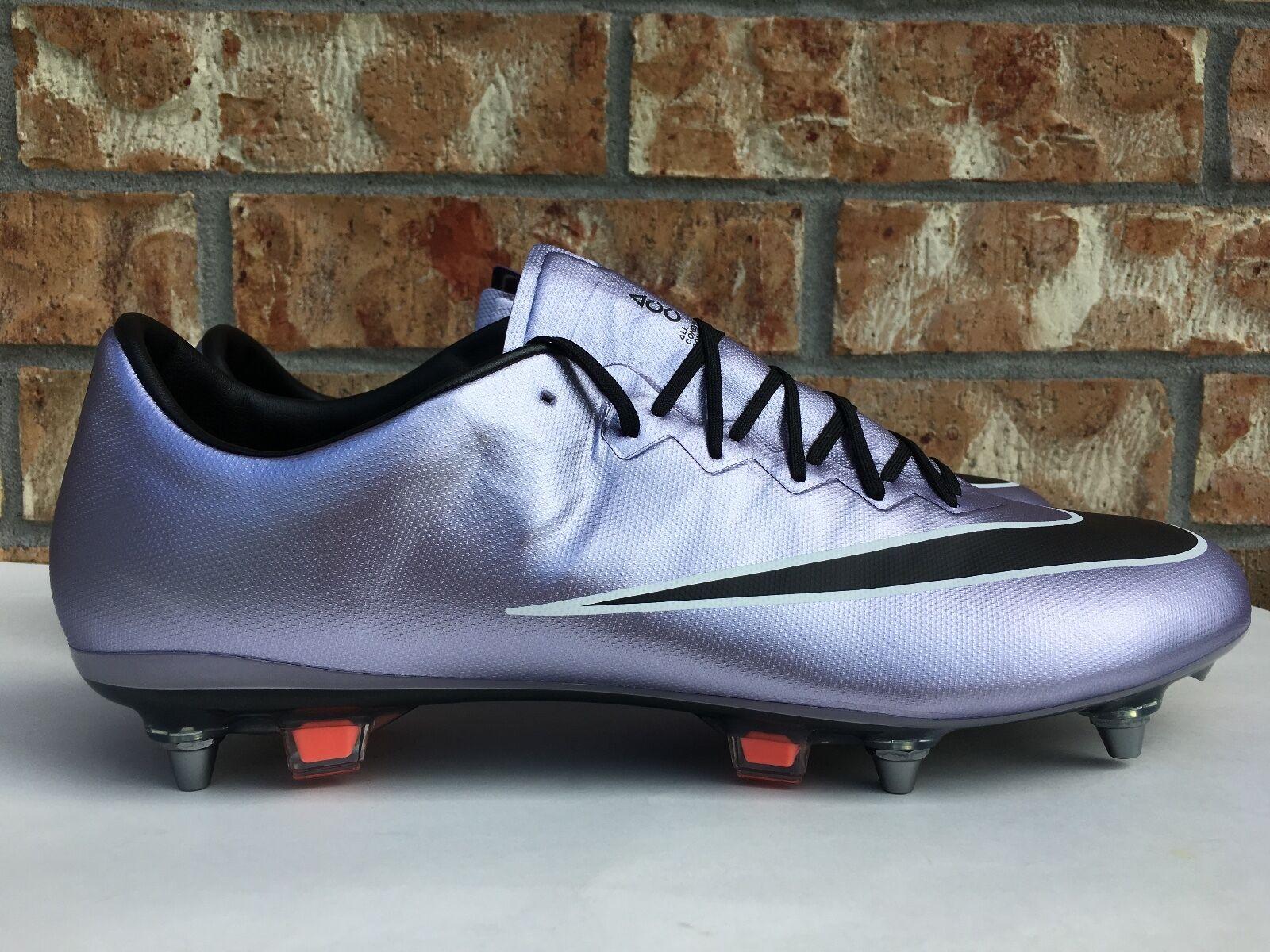wholesale dealer 75295 9a30f Men's Nike Mercurial Vapor X Sg-pro Soccer Cleats Lilac Purple Black  648555-581