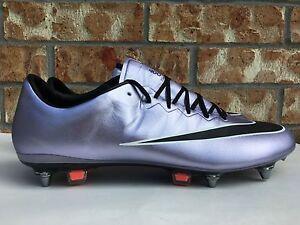 3ba149aed497 Men s Nike Mercurial Vapor X SG-Pro Soccer Cleats Lilac Purple Black ...