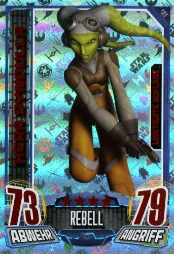 topps star wars neuf Rebel Attax série 1 édition limitée choisir