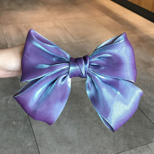 Ladies/' Pearly Shiny Big Bow Hair Clip Solid Color Girl Hairpin Hair Accessories