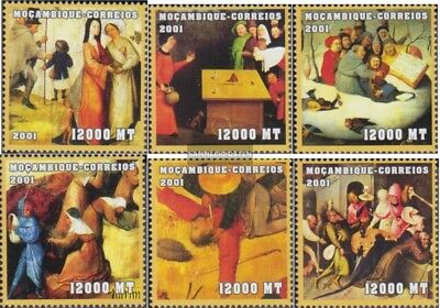 Stamps Beautiful Mosambik 2079-2084 Unmounted Mint Never Hinged 2001 Art Pure White And Translucent Art