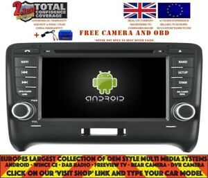 autoradio dvd gps navi android 9 0 bt dab wifi audi tt 06 12 bose rd5525 ebay. Black Bedroom Furniture Sets. Home Design Ideas
