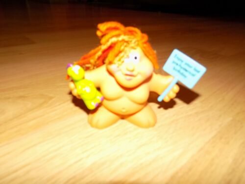 "3/"" Russ Chubby Lady Troll PVC Figure Cake Topper Enjoy Pre Historical Birthday"
