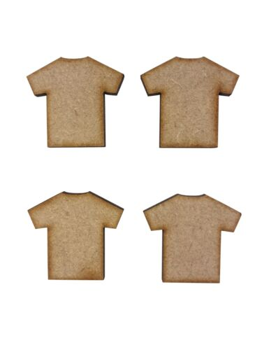20x T Shirt Top Vests 3cm Wood Craft Embelishments Laser Cut Shape MDF