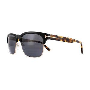 751d16abd0f Tom Ford Sunglasses Louis FT0386 01D Black   Havana Grey Polarized ...