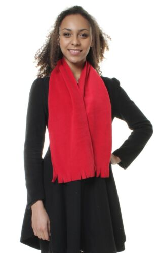 Red Neckwarmer Thermal Polar Fleece Scarf for Winter and Ski Wear Mens /& Ladies