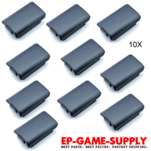 Lot 10 x Black Battery Pack Holder Cover Shell for XBOX 360 Wireless Controller