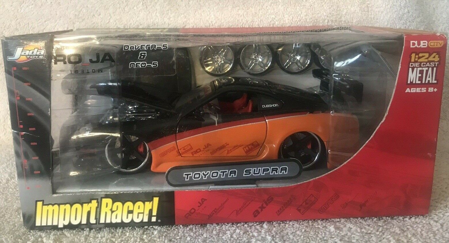 Import Racer  Toyota Supra  Dub City  1 24 Diecast Metal Jada Toys NIB VHTF RARE