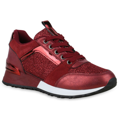 Glitzer Fitness Damen Laufschuhe Turnschuhe Sportschuhe 824234 Sneaker Schuhe rqawxaEFI